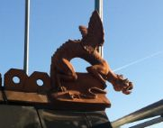 dragon finial roofer scaffolding