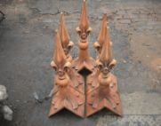 fleur de lys spike roof finials aged terracotta thumb