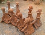 group of architectural roof finials