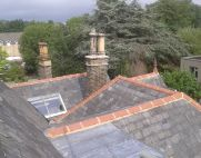 spire roof finial on slate roof thumb