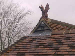 Epping ridge dragons installed on roof elevations